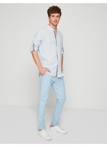 Koton Koton Açık Mavi Klasik Pantolon Lacivert